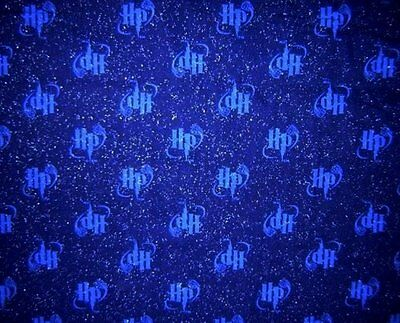 "Harry Potter Deep Blue ""HP"" Sparkles Glitter Fabric FQ Fat Quarters RARE!"