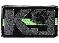 (f10) K9 Green Line Park Ranger / Border Patrol 3.5 X 2 Iron On Patch (4602)