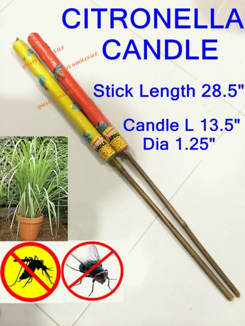 2 /4 /8 /12  Pcs Large CITRONELLA Anti Mosquito BUG Fly Repellent Candle Yard