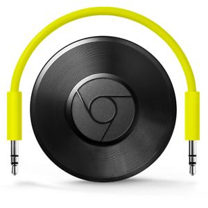 Google-Chromecast-Audio-Musik-Streaming-uber-App-Aux-Wlan-Schwarz-Refurbished