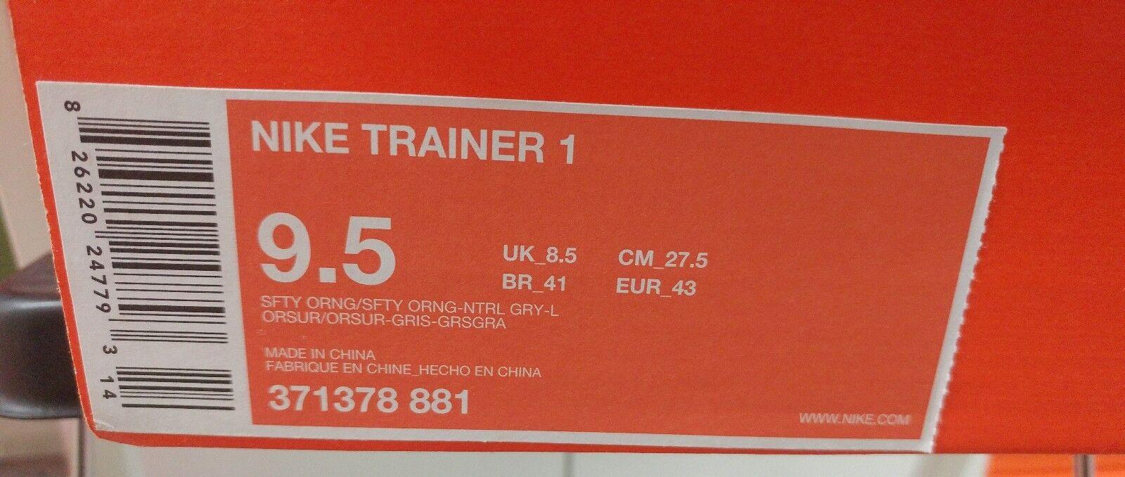 ds nike air trainer 371378 1. og sz 9,5 371378 trainer 881 kirschholz oberste sb ausbilder orange b0fec8