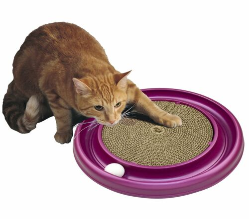 Cat Scratcher Pad 16in Round Base Pet Kitten Claws Grooming Care Play Toy Ball