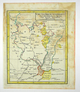 Elsass Karte.Details Zu Lothringen Basel Schweiz Elsass Europa Altkol Kupfer Karte Franz 1758 D862s