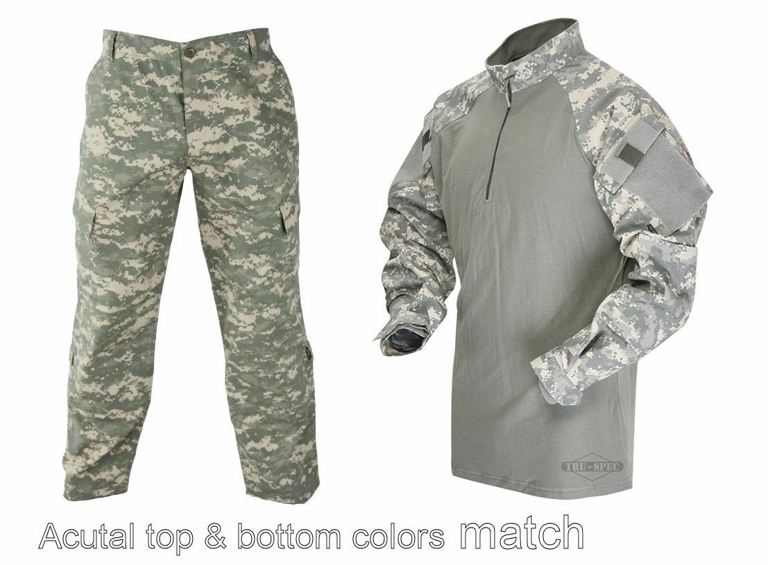 Tru-Spec US Army Universal Camo 1/4 Zip Combat Shirt Tactical Response Pants
