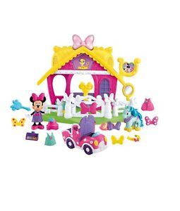 Fisher-Price-Disney-Minnie-Mouse-Deluxe-Pony-Show-Stable-Brand-New