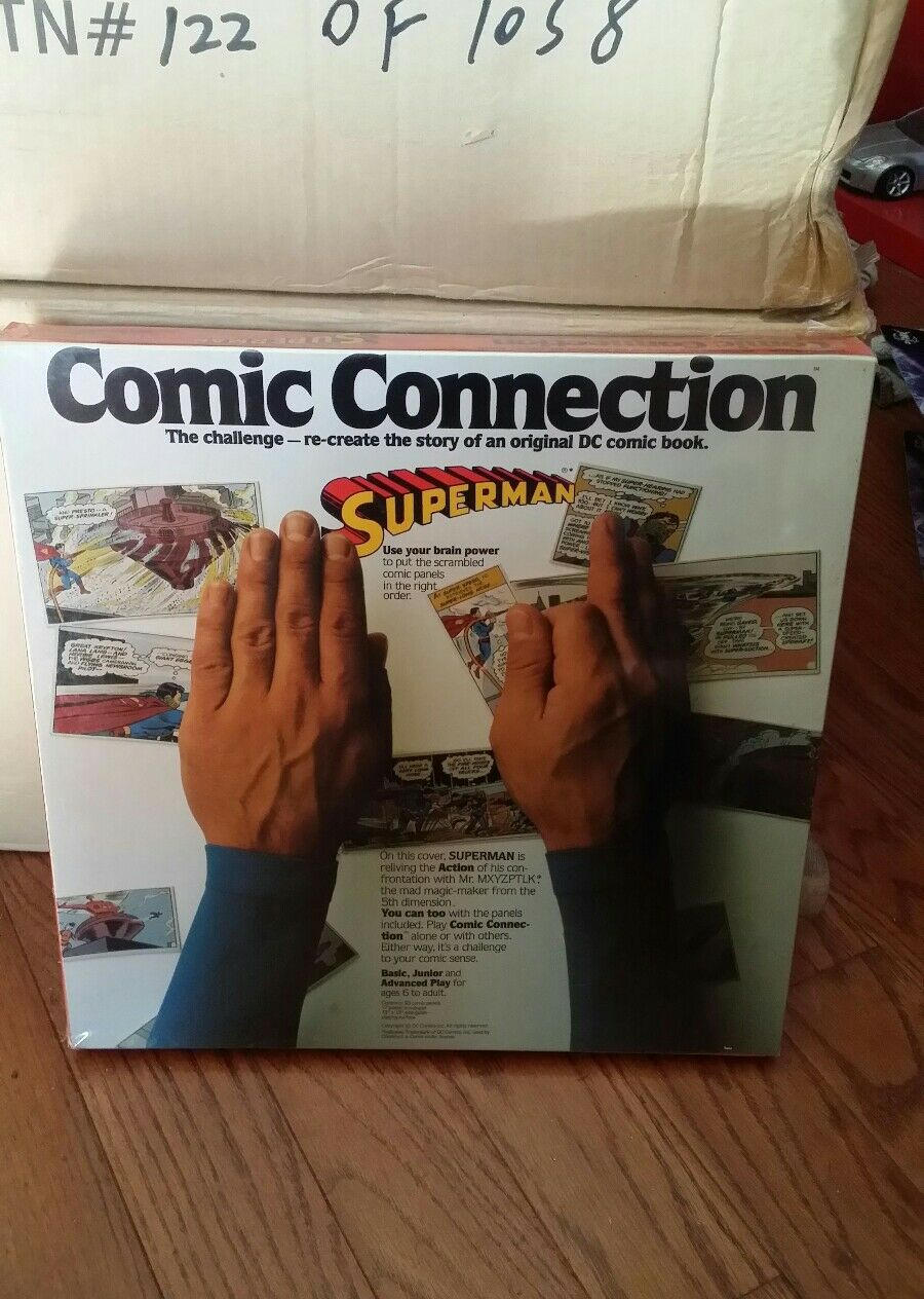 Vintage Superman Comic Connection Game Sealed MISB  SUPER RARE  DC Comics MiB