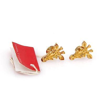 CARRERA Y CARRERA 18K YELLOW GOLD GIRAFFE STUD EARRINGS - WITH TAGS