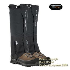 Black-Crystal-Ski-Snow-Hiking-Walking-Gaiters-Waterproof-Nylon-Brand-New-Womens