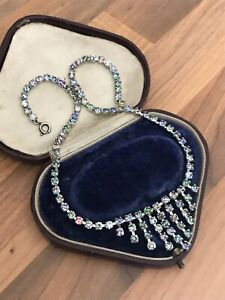 Vintage-Diamante-Diamond-Rainbow-Paste-Necklace