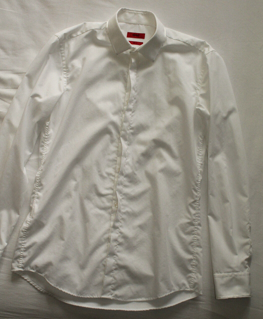 Hugo Boss Men's Slim Fit White Shirt Size 39 15 1 2 Good Used Condition