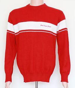 RARE-Vintage-Jesse-Owens-Classic-Ohio-State-University-Sweater-LARGE-Red