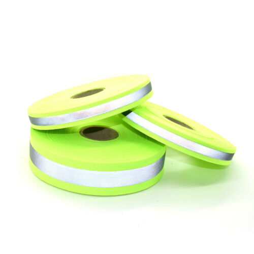 Yellow High Visibility Reflective Polypropylene Webbing Strap PP5 Tape