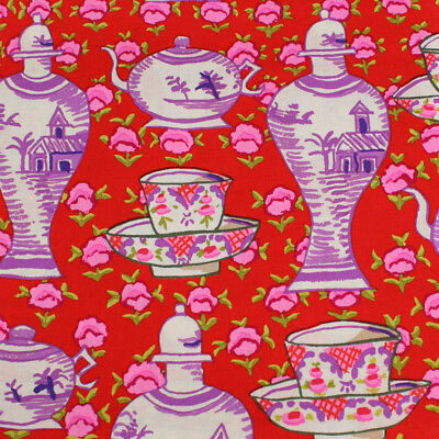 Kaffe Fassett Delft Pots Cotton Quilting Craft Fabric Sold By The Meter  fq201d