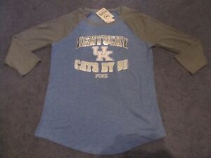 69271ee88a770 Details about NWT VICTORIA'S SECRET PINK KENTUCKY WILDCATS BLING PERFECT  BASEBALL TEE LARGE