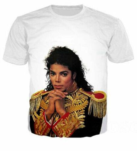 Michael Jackson Women Men Casual 3D T-Shirt Singer Printed Tee Short Sleeve Tops
