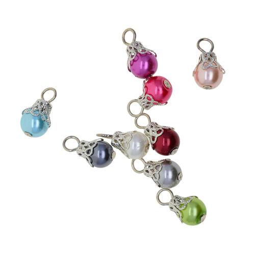 50 Pack Glas Imitation Perle Tropfen Perlen Mischen Farben Handgemachte