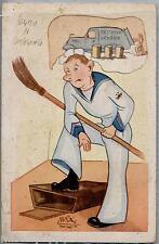 Illustratore UMBERTO RANZATTO Umoristica Marina Militare WWII PC Circa 1942 3