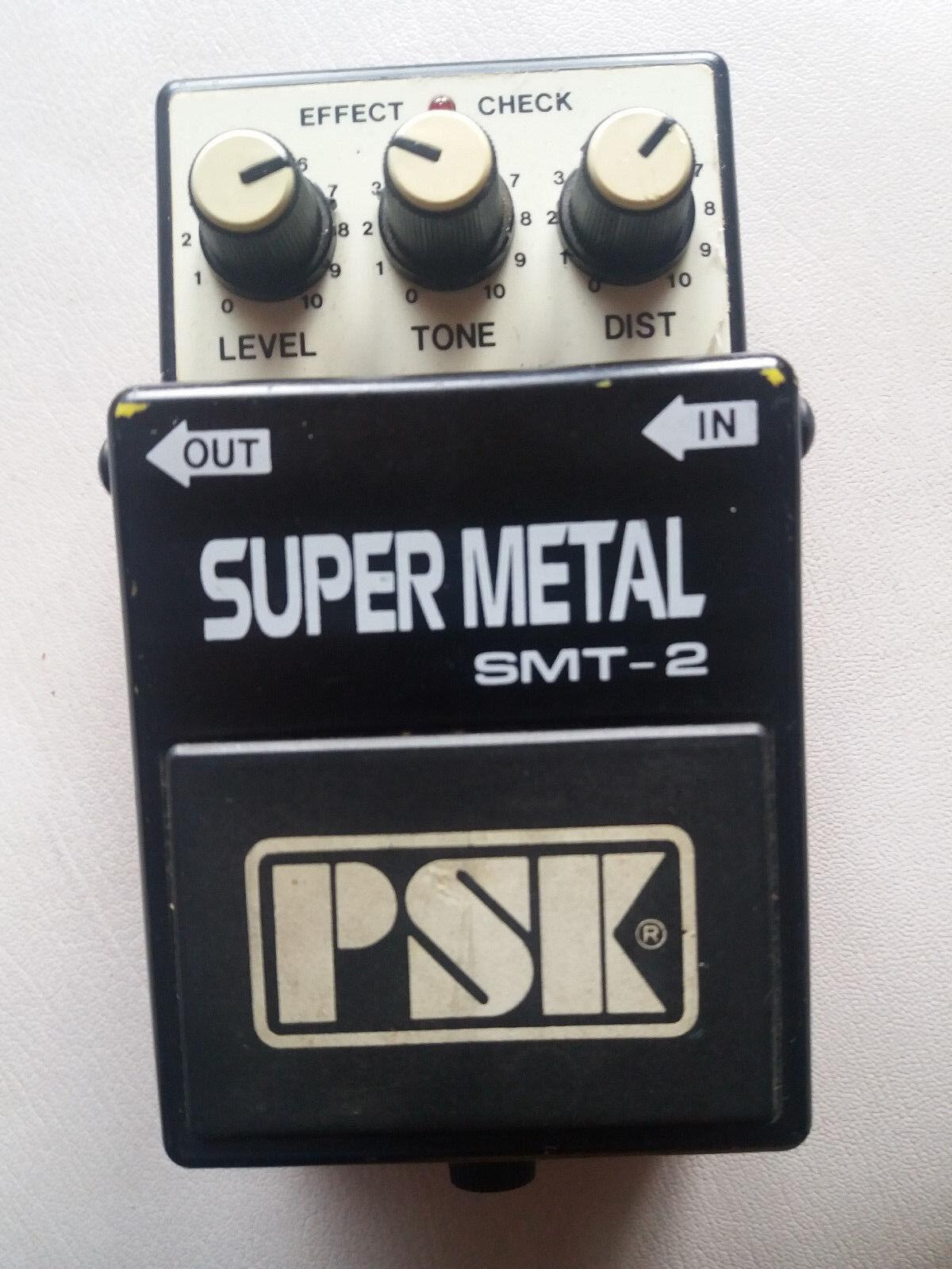 merce di alta qualità e servizio conveniente e onesto RARE Vintage PSK smt-2 smt-2 smt-2 SUPER METAL DISTORTION PEDALE  acquisto limitato