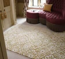 Mayfair Knightsbridge Gold Cream Modern Handmade Wool Viscose Rugs 160x230cm