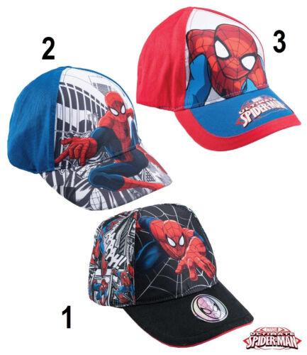 Disney spiderman Enfants Cap Basecap Capuchon Casquette de Chapeau taille 52-54 NEUF