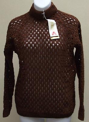 Abile Vintage Aperta Knit Donna Jumper 1960s Inutilizzato Acrilan Marrone Da Donna Taglia M-mostra Il Titolo Originale