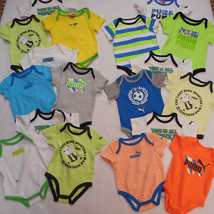 817304ce Details about Puma Infant Boy Size 3-6Mth. & 18Mth. Assorted Style 3PC.  Bodysuit Sets