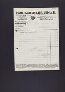 Details zu ULM, Rechnung 10, Karl Gaissmaier Lebensmittel-Grosshandel