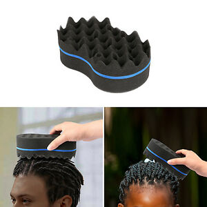 Home Appliance Parts Home Appliances Fashion Style Double Sided Barber Hair Brush Sponge Dreads Locking Twist Coil Afro Curl Wave
