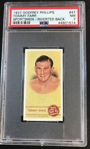 1937-Godfrey-Phillips-Sportsmen-Spot-the-Winner-Tommy-Farr-Inverted-Back-PSA-7