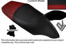 BLACK & DARK RED CUSTOM FITS HONDA TRANSALP XL 700 V 08-12 DUAL SEAT COVER