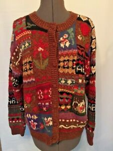 Heirloom-Collectibles-Christmas-Sweater-Cardigan-Style-Ugly-Party-Size-Large