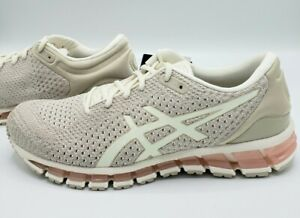 Asics-Gel-Quantum-360-Knit-Birch-Feather-Grey-Running-Shoes-T890N-Women-039-s-9-5