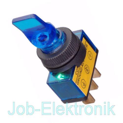 Basculante azul 12v//20a 1 pines vehículos ilumina interruptores car Switch