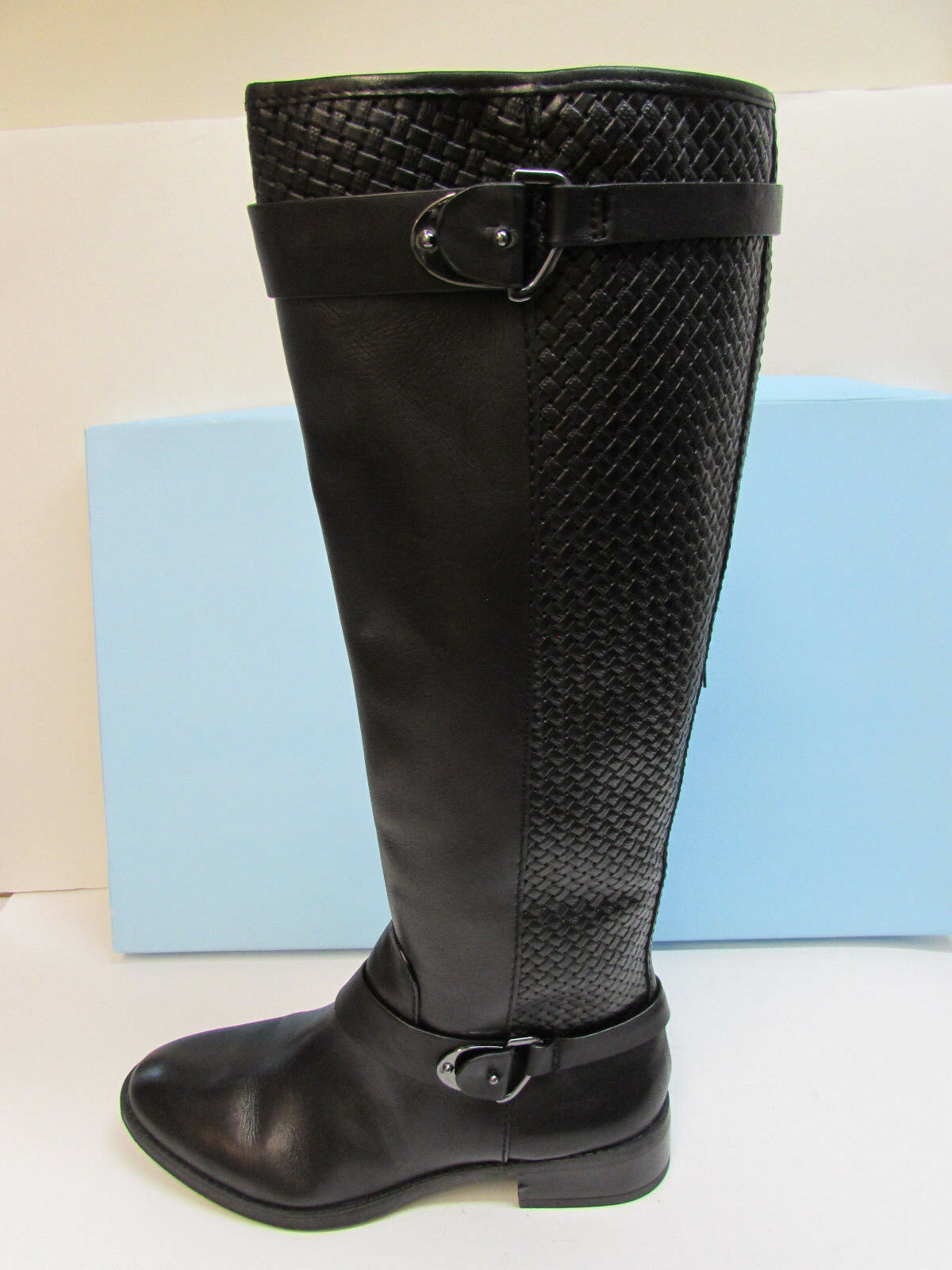 Antonio Melani Size 6.5 Black Leather Knee High Boots New Womens shoes