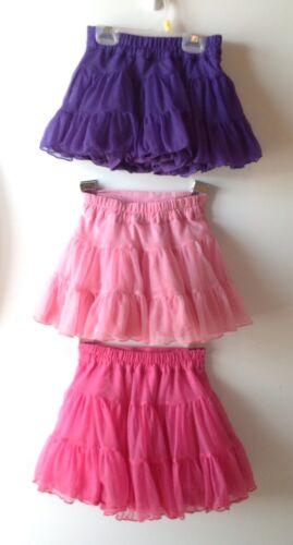 Girls Tulle Ruffle Tutus Skirts Fairy Wings Light /& Dark Pink Purple Sz 2T 3T 5T