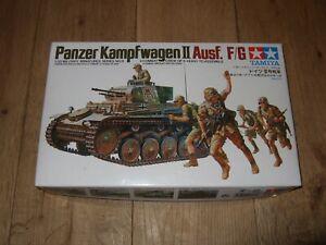 TAMIYA-PANZER-KAMPFWAGEN-II-AUSF-F-G-MODEL-KIT-1-35-BOXED-CONTENTS-STILL-SEALED