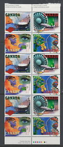 CANADA-1595-1598a-45-High-Technology-Industries-Booklet-Pane-of-12-MNH