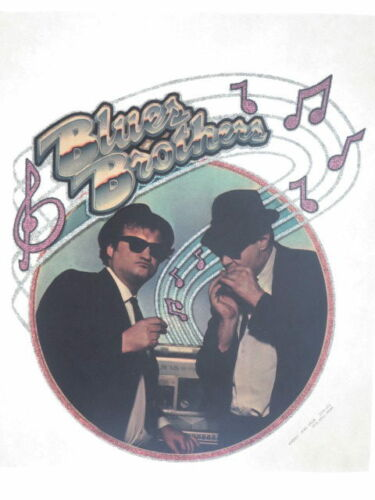 BLUES BROTHERS BELUSHI AYKROYD JUKE BOX ORIG 1970s T-SHIRT IRON-