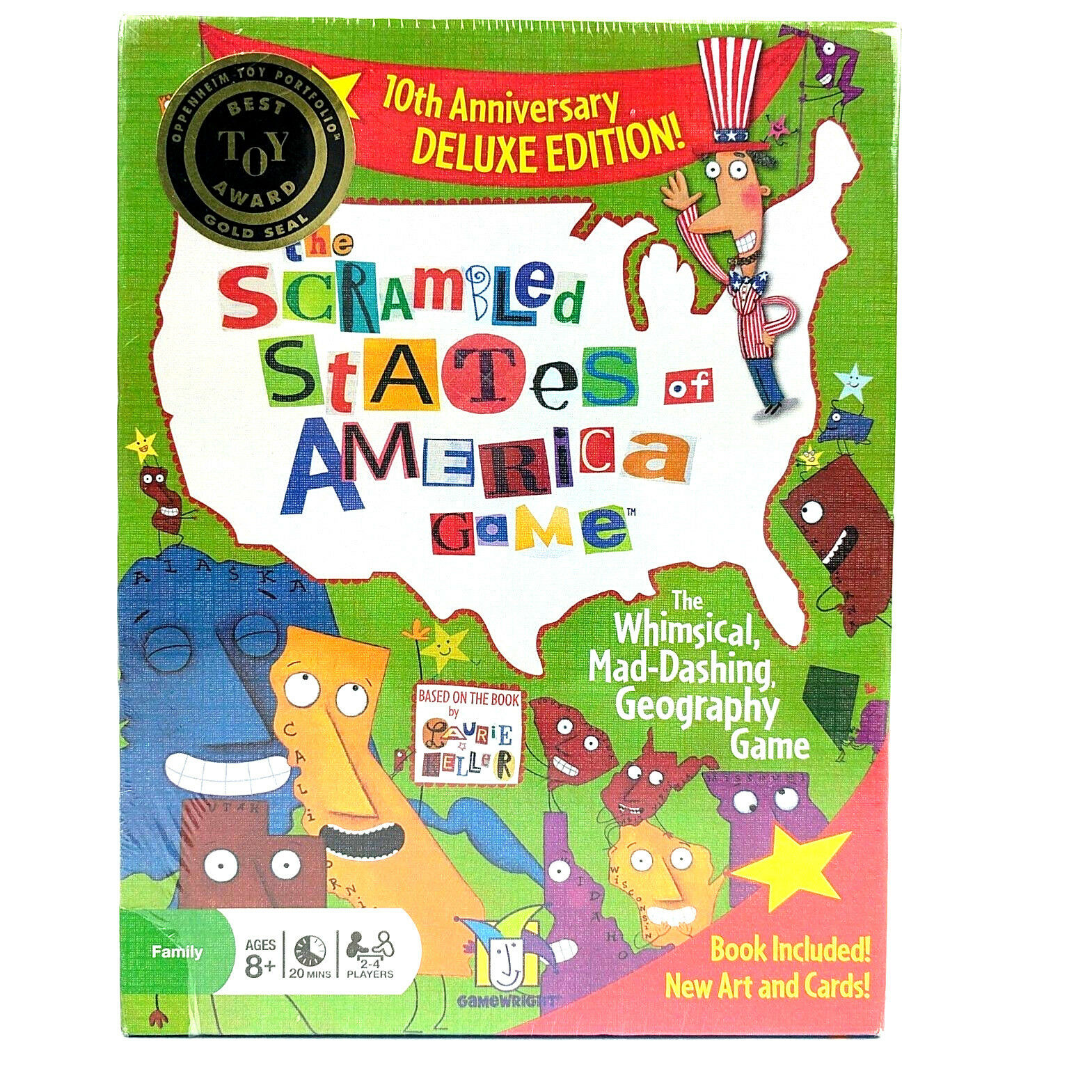 The Scrambled States Of America Game Deluxe Edition by GameWright Home Schooling