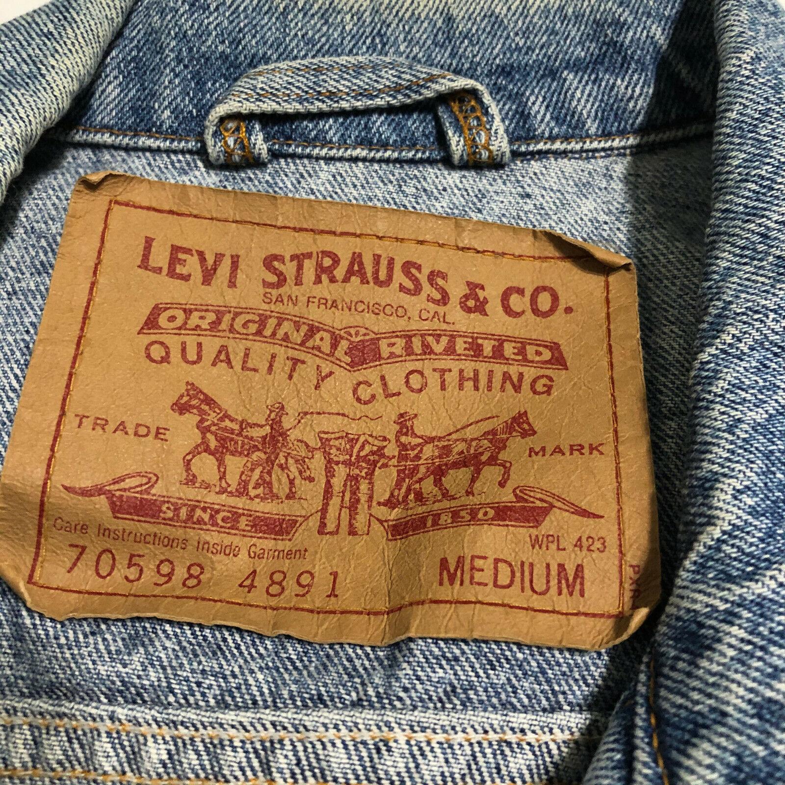Vintage 80 90's LEVIS 70598-4891 USA Acid Washed … - image 3