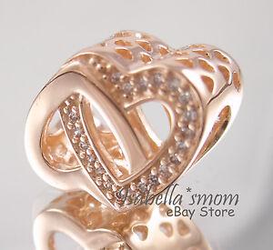 134aa7cc7 Image is loading ENTWINED-LOVE-Genuine-PANDORA-Rose-GOLD -Plated-Interlocking-