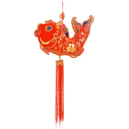 Chinese New year Blessing ingot FISH GIANT lantern decoration hanging walloffice