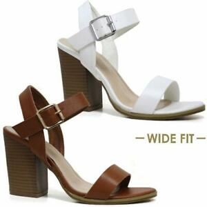 LADIES-SUMMER-SANDALS-WOMENS-BLOCK-HEEL-WIDE-FIT-STRAPPY-PARTY-DRESS-SHOES-SIZE