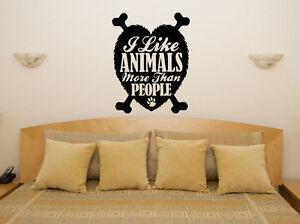 I-Like-Tiere-mehr-als-Menschen-Haustier-Wanddekoration-Aufkleber-Bild