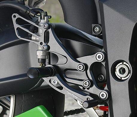 US Stock CNC Rear Set Foot Pegs Footrest For Kawasaki Ninja ZX6R ZX636 2005-2008