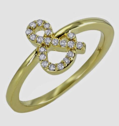 Khai Khai Ampersand 18k Yellow Gold With Diamonds