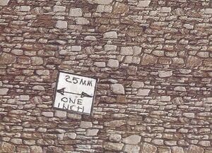 Embossed Dolomite Stone Sheet 57710 Noch dollhouse miniature 1/12 scale
