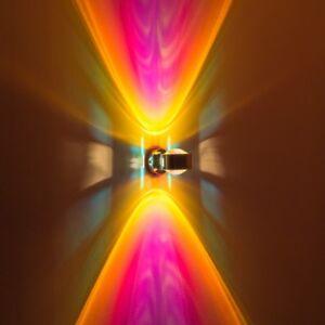 Design-Flur-Lampe-Wandleuchte-Kuechen-Strahler-Linse-Wohn-Zimmer-Leuchten-magenta