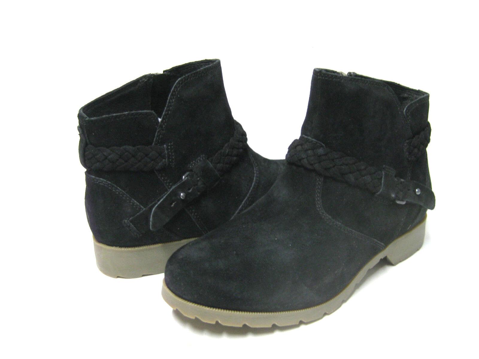 TEVA DE LA VINA WOMEN ANKLE BOOTS SUEDE BLACK  US 8.5  UK 6.5  EU 39.5