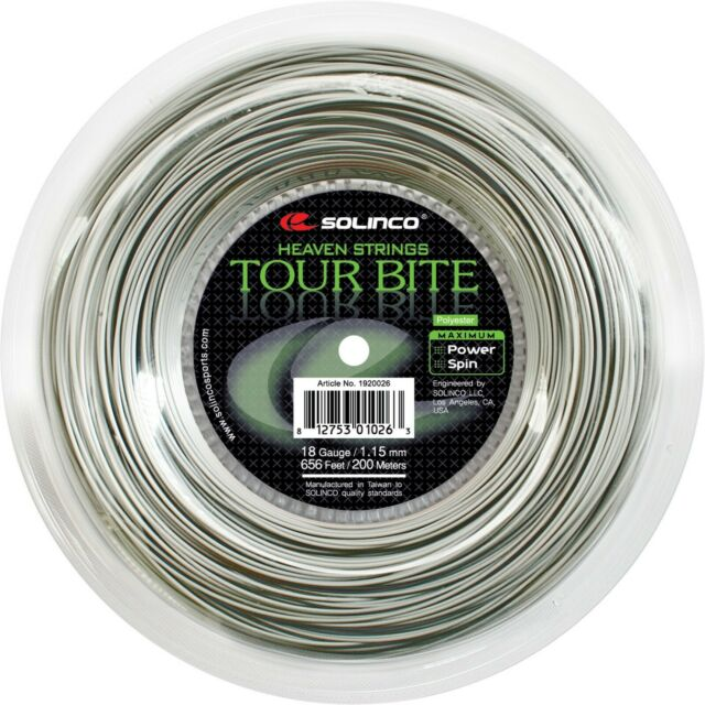 Solinco Tour Bite 18 Gauge 1.15 mm Tennis String Reel Grey 656 ft 200m PRIORITY
